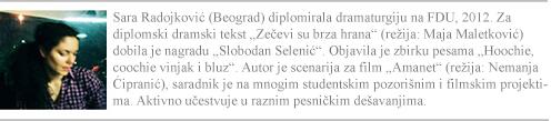 sara radojkovic, kartica