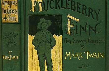 """Ilustracija iz originalnog izdanja """"Avanture Haklberi Fina"""""""