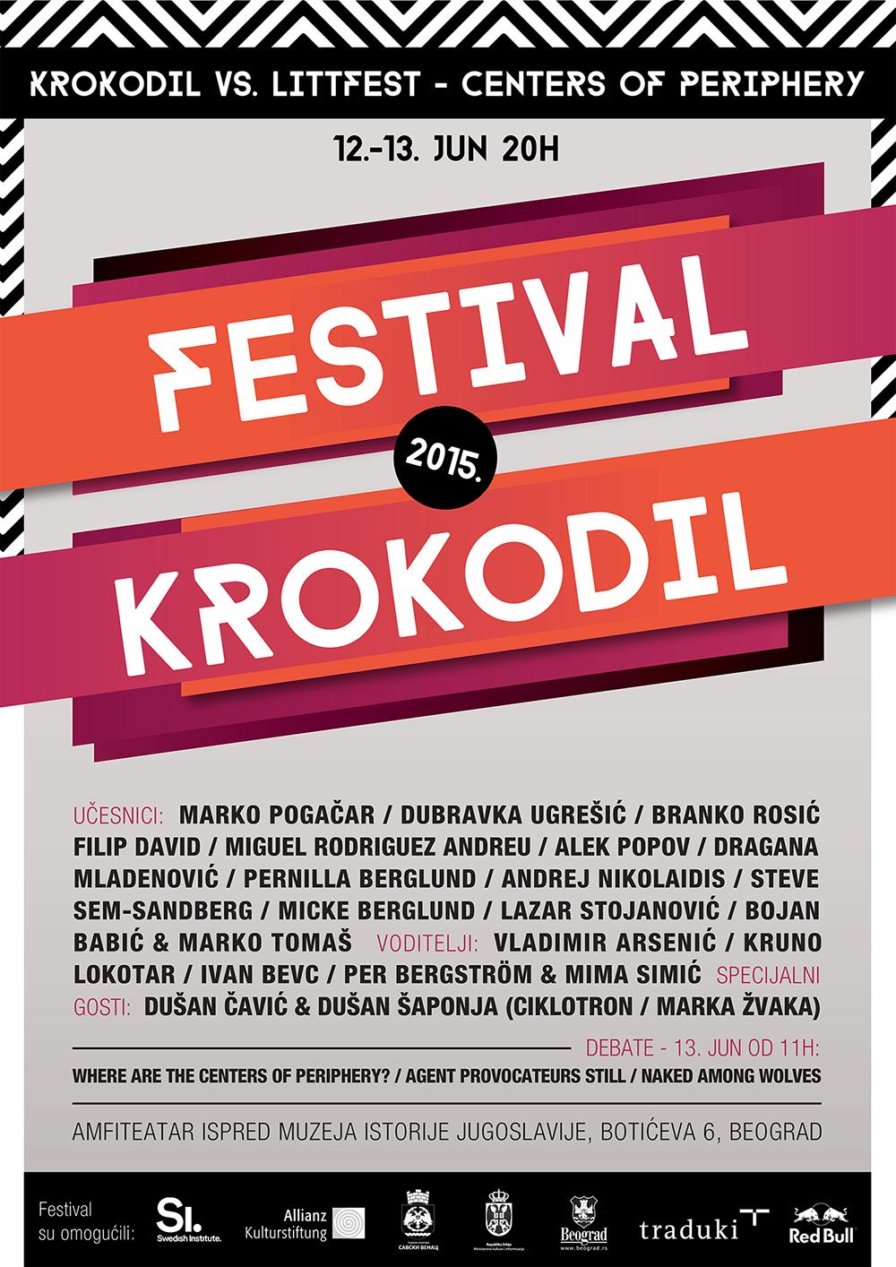 KROKODIL festival 2015. | 12-13 jun | 20h