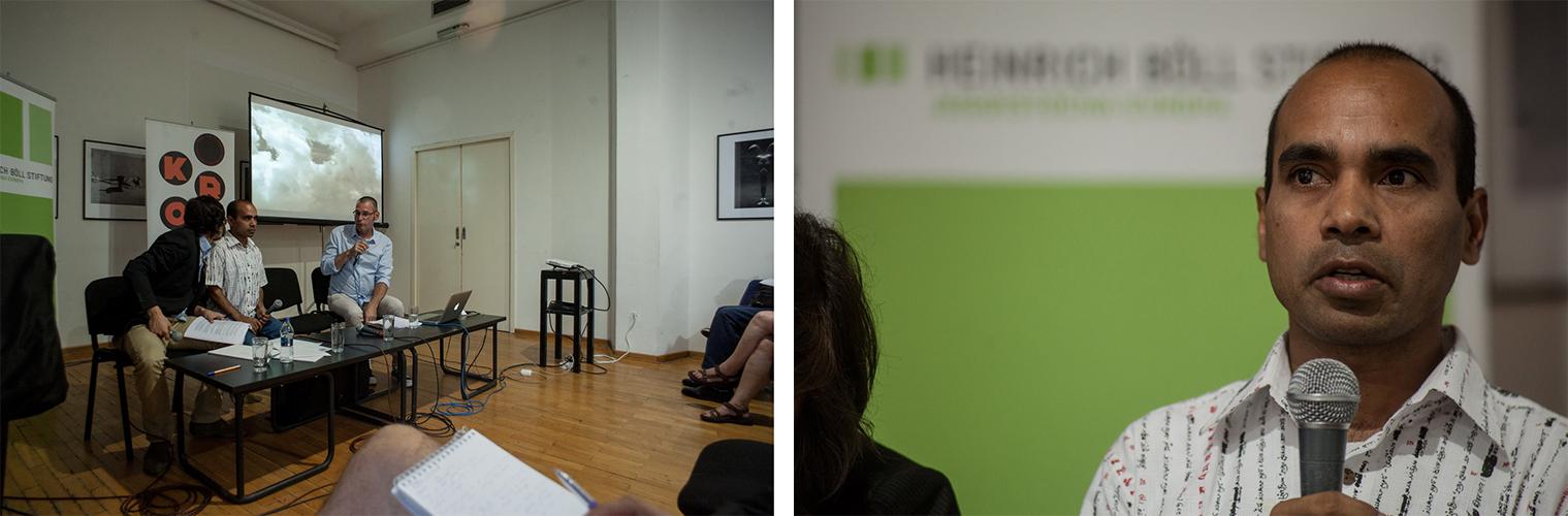 """Detalji sa tribine """"Između raja i šengenske vize"""" održane u Kulturnom centru Beograd. (copyright: Srđan Veljković)"""