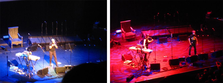 Detalj sa koncerta posvećenog grupi Suicide (na slici levo: Henry Rollins, desno: Martin Rev i Alan Vega)