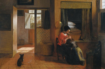 Interior with a Mother delousing her Child, Pieter De Hooch