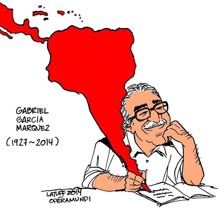 Karikatura brazilskog ilustratora Karlosa Latufa, nakon Gabove smrti 2014. godine