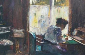 žena piše