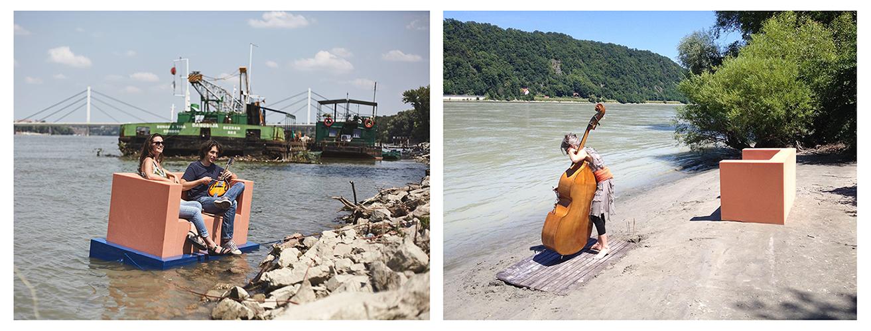 "Fotografije sa projekta ""Dunav Sofa Surfing"" iz Srbije (levo) i Mađarske (desno). (photos rights reserved by Josef Trattner)"