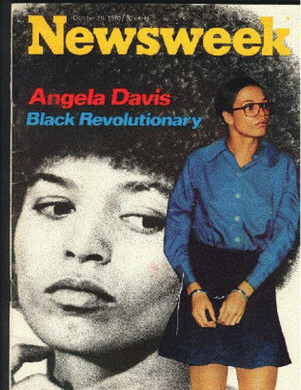 "Anđela Dejvis na naslovnoj strani magazina ""Newsweek"", 26. oktobar 1970."
