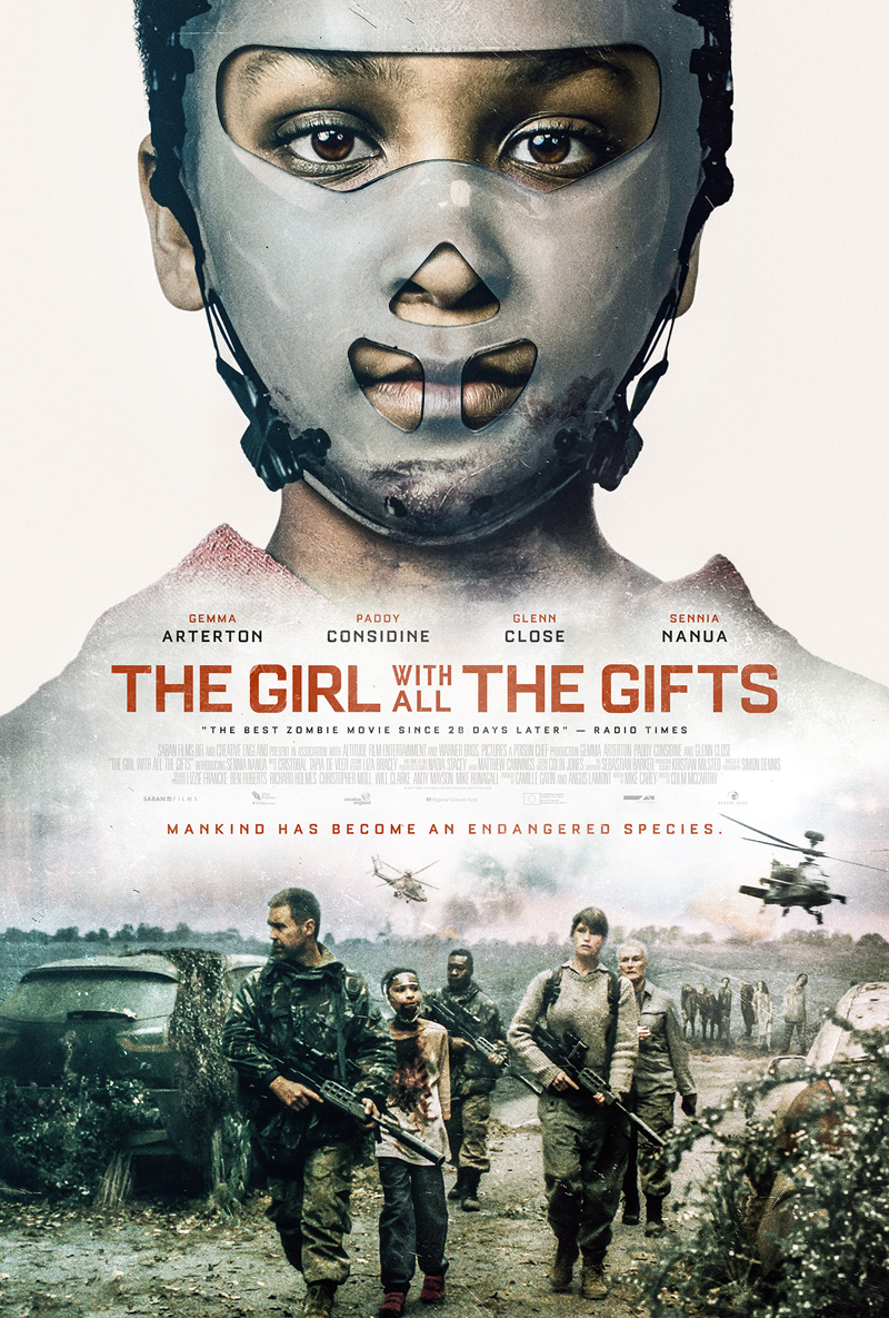 "Bioskopski poster za film ""Girl with all the gifts"""