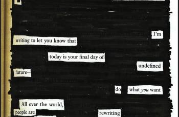 blackout poezija