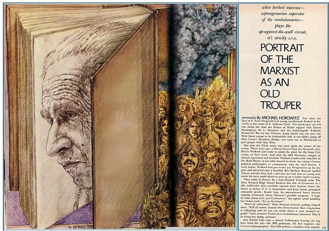 Originalno grafičko rešenje teksta Majkla Horovica, objavljeno u Plejboju, septembar 1970.