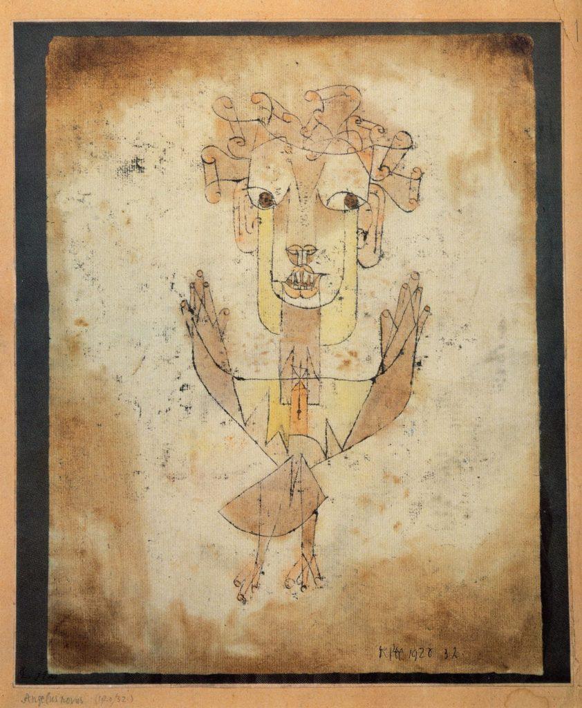 """""""Angelus Novus"""", Pol Kle, 1920."""